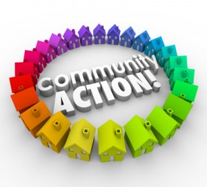 Community Action multicolored houses, Accounting for Not-for-Profit Organizations in Winnipeg, MB and throughout Central Canada and Northern United States